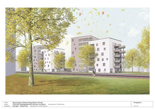 Projektvisualisierung Tarzan & Jane der Gewoba AG Wohnen und Bauen in Bremen-Huchting
